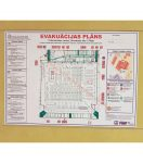 Evacuation plans and safety signs